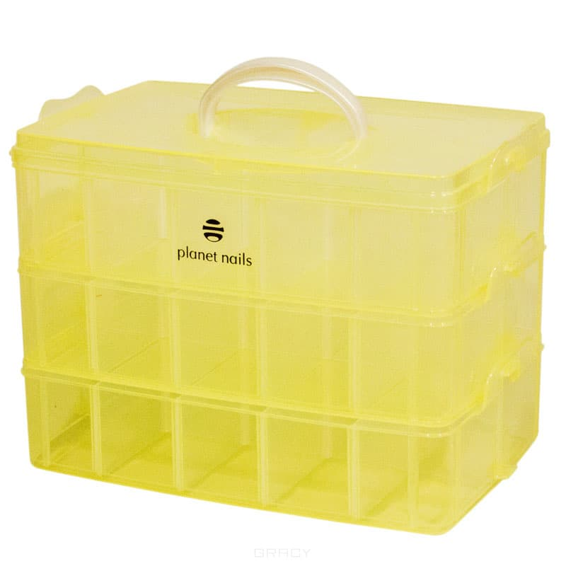 Чемодан пластиковый трехуровневый 258х168х185 мм (4 цвета)Цвет: Белый, розовый, персиковый, желтый&#13;<br>Материал: Пластик&#13;<br>&#13;<br>Размер: 25х16х18 см&#13;<br>&#13;<br>Страна производитель: Китай<br>