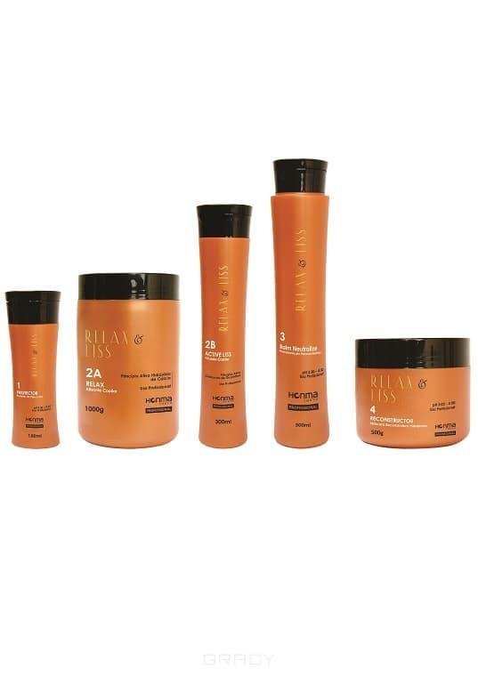 Линия «Relax &amp;amp; Liss» (5 этапов)Линия Relax&amp;amp;amp;Liss создана для релаксации и выпрямления волос. Формулы средств, включенных в серию, обогащены природными экстрактами розмарина, морских водорослей, листьев яборанди и овса. &#13;<br>В состав также включены активные липиды и поликватерниум 55 - эти вещества способствуют уменьшению общего объема волос, противодействует их закручиванию, а также обеспечивает активное кондиционирование и защиту волосяных волокон от сухости. В линию включены такие средства, как протектор, релаксатор, активный выпрямитель, бальзам-нейтрализатор и реконструктор.&#13;<br> Линия  RELAX &amp;amp;amp; LISS  включает в себя: Шаг 1 «ПРОТЕКТОР» 150 мл; Шаг 2А «РЕЛАКСАТОР» 1000 гр; Шаг 2В «АКТИВНЫЙ ВЫПРЯМИТЕЛЬ» 300 мл; Шаг 3 «БАЛЬЗАМ НЕЙТРАЛИЗАТОР» 300 мл; Шаг 4 «РЕКОНСТРУКТОР» 500 гр.<br>