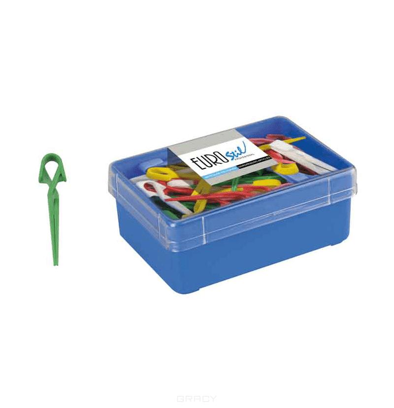 Eurostil, Зажимы пластиковые, 60 штЗажимы, шпильки, резинки<br><br>