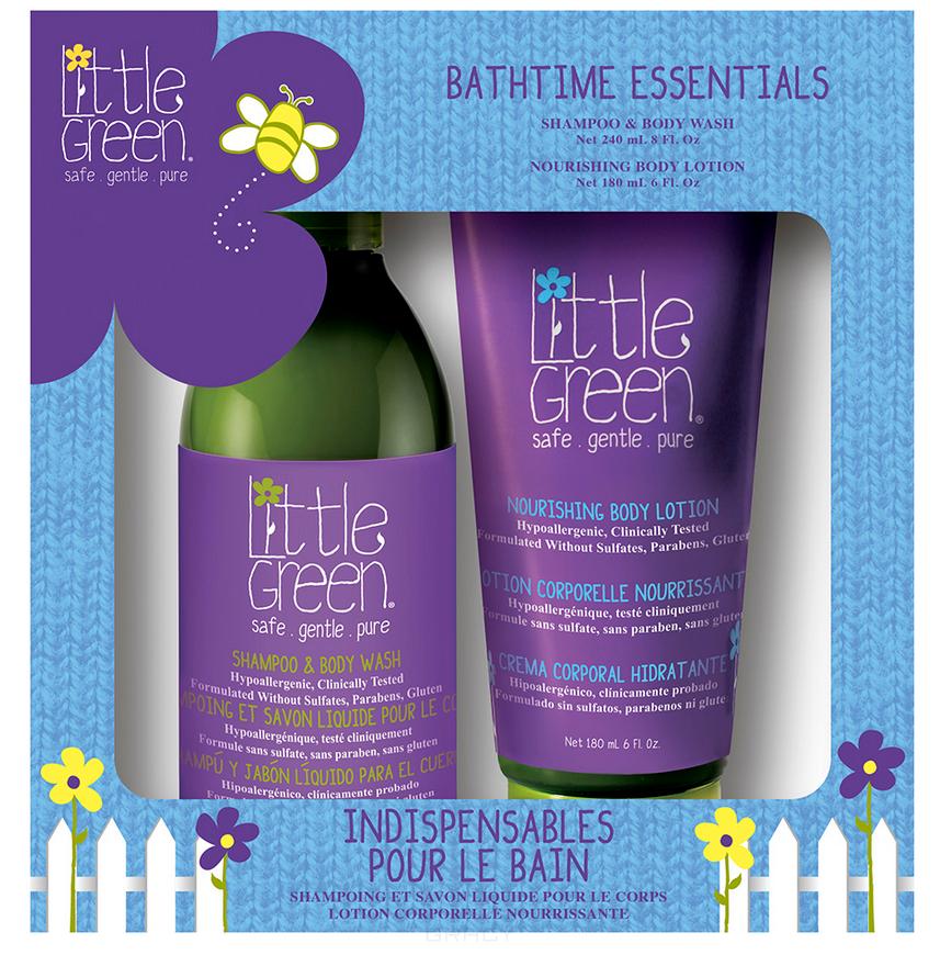 Купить Little Green, Набор для детей Ванные штучки Bathtime Essentials (шампунь, лосьон для тела), 240/240 мл