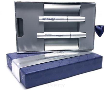 RevitaLash, Подарочный бокс синий ( усилитель роста ресниц +  тушь черная), 3,5 мл+7,39 млДля бровей и ресниц<br><br>