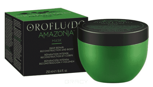 Orofluido, Восстанавливающая маска для ослабленных и поврежденных волос Amazonia OF Mask, 250 мл punti di vista baxter mask of garlic extract маска восстанавливающая с экстрактом чеснока 250 мл