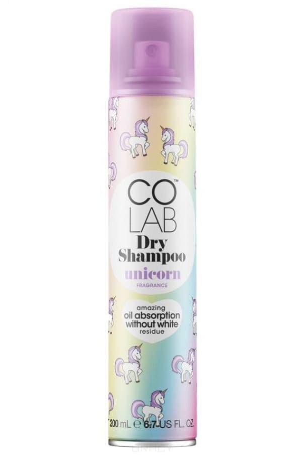CoLab, Сухой шампунь прозрачный с ароматом сливы и ванили Unicorn, 200 мл colab сухой шампунь extreme volume monaco 200 мл