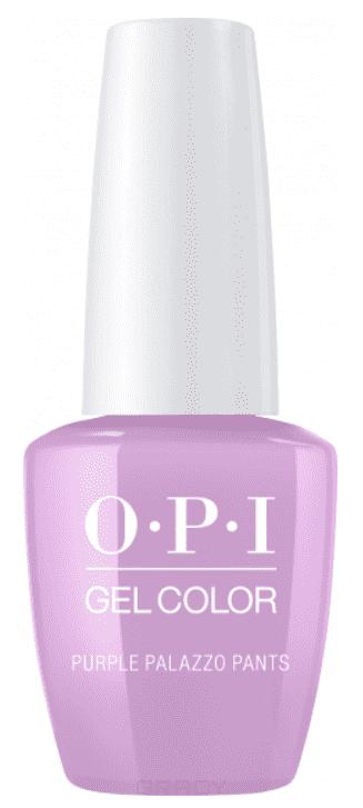 OPI, Гель-лак GelColor, 15 мл (95 цветов) Purple Palazzo Pants frill waist belted palazzo pants