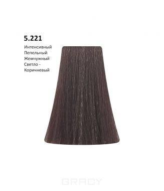 Купить BB One, Перманентная крем-краска Picasso (153 оттенка) 5.221 Intense Ash Pearl Light Brown/Интенсивный Пепельный Жемчужный Светло-Коричневый