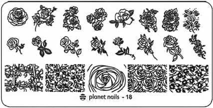 Planet Nails, Пластина для Stamping Nail Art (25 видов) - 18