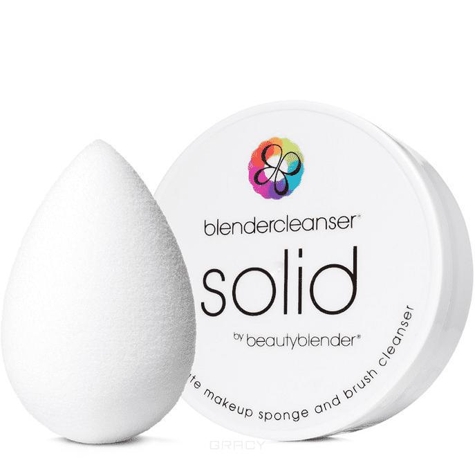 BeautyBlender, Набор косметический спонж белый Pure + мыло Blendercleanser SolidСпонжи для макияжа<br><br>