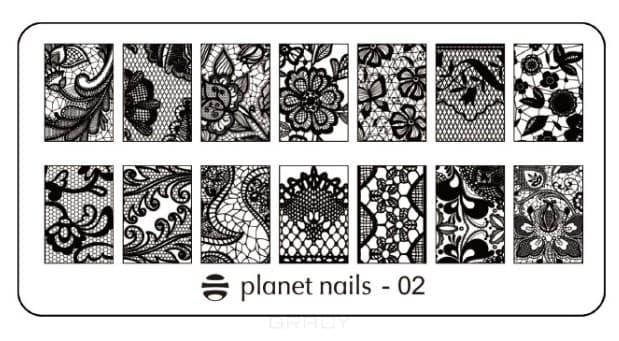 Planet Nails, Пластина для Stamping Nail Art (25 видов) - 02