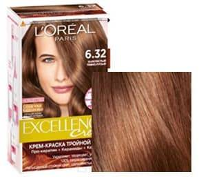 LOreal, Краска для волос Excellence Creme (32 оттенка), 270 мл 6.32 Золотистый темно-русыйОкрашивание<br><br>