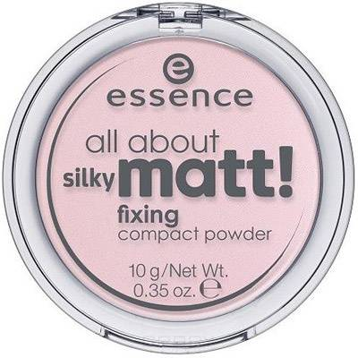 Купить Essence, Пудра компактная All About Silky Matt Fixing розовая, 10 гр