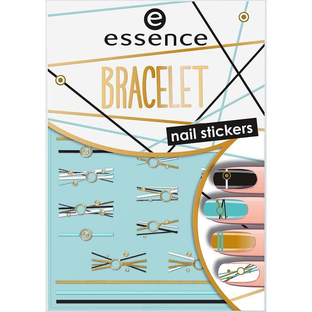 Наклейки для ногтей Bracelet Nail Stickers cute nail art stickers black 5 pack
