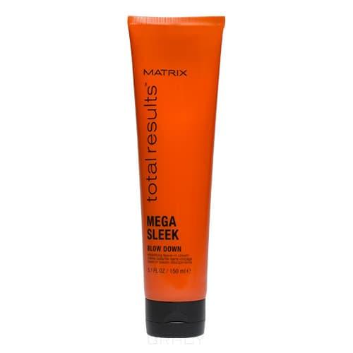 Несмываемый крем для гладкости волос Mega Sleek Blow Down Cream Total Results, 150 млОбеспечивает волосам любого типа надежную защиту от повреждений при горячей укладке. Технология 24HR Smoothing Repair, лежащая в основе средства, мгновенно придает волосам потрясающую гладкость и выразительный блеск, устраняет нежелательные завитки и непослушные локоны, снимает эффект &amp;amp;quot;пушащихся волос&amp;amp;quot; и сохраняет волосы гладкими даже при воздействии повышенной влажности.&#13;<br>&#13;<br>&#13;<br>      &#13;<br>    &#13;<br>&#13;<br>Керамиды и масло ши, входящие в состав крема, интенсивно восстанавливают структуру волос и день за днем улучшают их внешний вид, делая волосы действительно более шелковистыми.&#13;<br>&#13;<br>&#13;<br>      &#13;<br>    &#13;<br>&#13;<br>Не утяжеляет волосы и создает естественную эластичную фиксацию, надолго сохраняет форму прически без эффекта ненатуральности или &amp;amp;quot;склеенности&amp;amp;quot; волос.&#13;<br>&#13;<br>&#13;<br>      &#13;<br>    &#13;<br>&#13;<br>Результат:&#13;<br>&#13;<br>Восхитительно гладкие и блестящие волосы, защита волос при использовании фена, плоек и щипцов, устранение нежелательных завитков, естественная гибкая фиксация прически. Позволяет создать прически раз...<br>