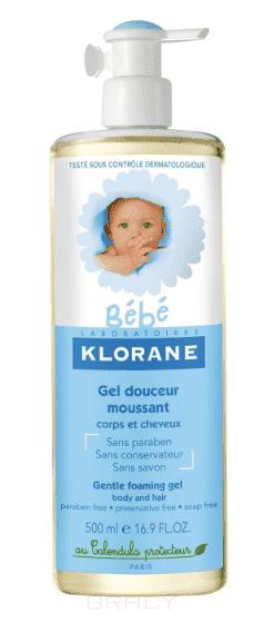Klorane, Мягкий пенящийся гель для волос и тела с экстрактом календулы, 500 мл мягкий пенящийся гель для волос и тела 500 мл klorane klorane bebe