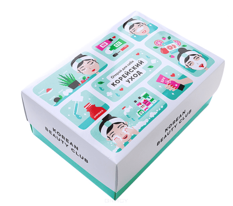 It's Skin, Коробка большая Корейский уход (с продуктами) Korean care box set (L) violet color portable d arsonval darsonval high frequency facial skin care hf hair care device professional kit with gift box