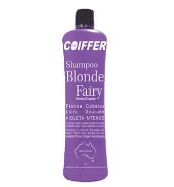 Coiffer, Blond Fairy Limpeza Фиолетовый шампунь для блондинок Шаг 1, 1 л фото