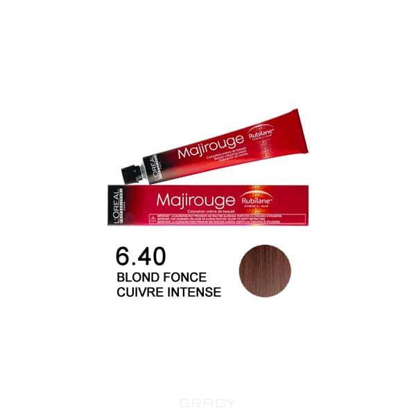 LOreal Professionnel, Крем-краска Majirouge, 50 мл (7 оттенков) 6.40 тёмный блондин интенсивный медныйОкрашивание<br><br>