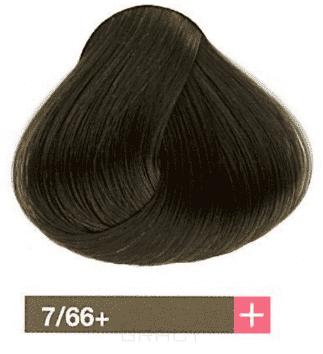 Lakme, Перманентная крем-краска Collage, 60 мл (99 оттенков) 7/66+ Средний блондин интенсивный коричневый яркий lakme перманентная крем краска collage 60 мл 99 оттенков 9 33 светлый блондин интенсивный золотистый яркий