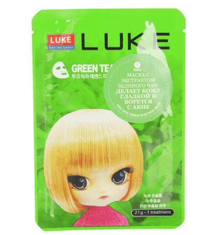 Hanwoong, Маска для лица Luke Essence с экстрактом зеленого чая, 21 г