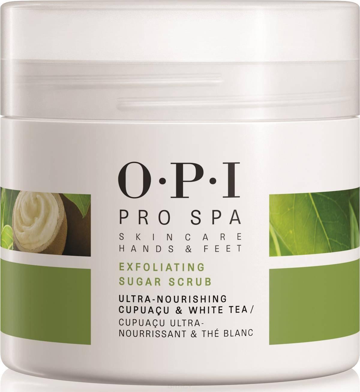 OPI, Отшелушивающий скраб для рук, ног и ногтей с сахарными кристаллами ProSpa Sugar Scrub, 249 гр