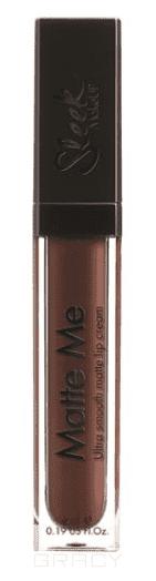 Sleek MakeUp, Блеск для губ Matte Me (7 тонов) Chocolate Meringue 1163 fashion women travel kit jewelry organizer makeup cosmetic bag