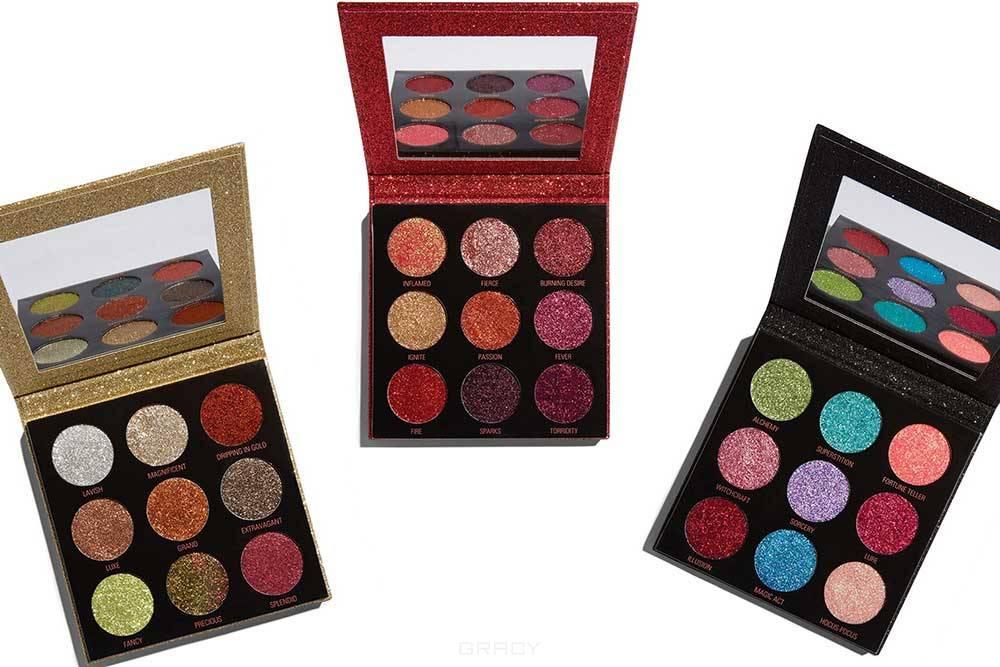 MakeUp Revolution, Палитра пигментов (глиттер) для макияжа Pressed Glitter Palette (3 вида), Hot Pursuit hot pursuit