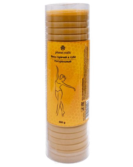 Воск горячий в тубе натуральный, 500 гЭффективно удаляет волосы. Прекрасно подойдет для всех типов кожи.&#13;<br>&#13;<br>  &#13;<br>&#13;<br>&#13;<br>Способ применения: поместите необходимое количество воска в нагреватель и разогрейте до 45-50 С. Нанесите воск шпателем по направлению роста волос. дайте воску застыть и удалите его резким движением против роста волос.<br>