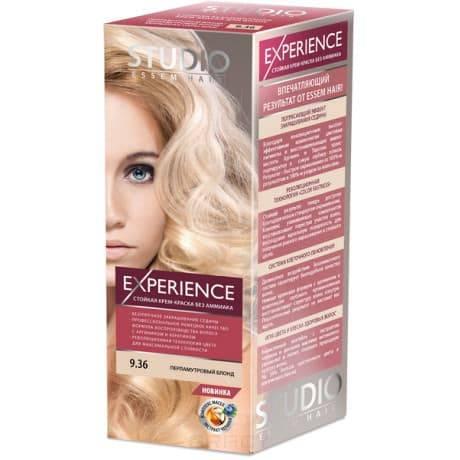 Studio, Краска для волос experience (8 оттенков), 40/60/15 мл 9.36 Перламутровый блонд
