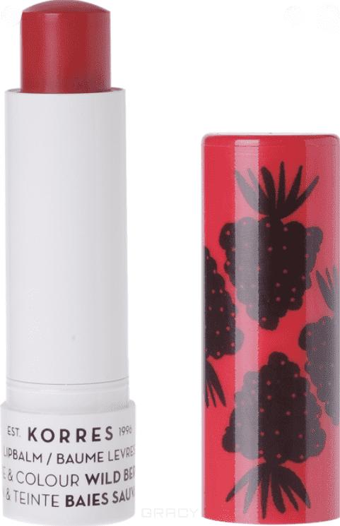 Korres, Бальзам-стик для губ уход и цвет Дикие ягоды, 5 мл урьяж стик для губ