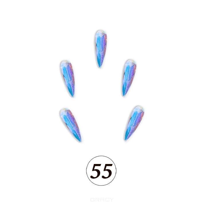 Купить Planet Nails, Цветные фигурные стразы в ассортименте (76 видов), 5 шт/уп Планет Нейлс №55