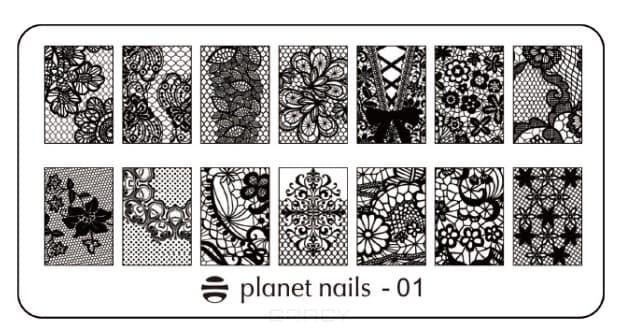 Planet Nails, Пластина для Stamping Nail Art (15 видов) Пластина для Stamping Nail Art - 01
