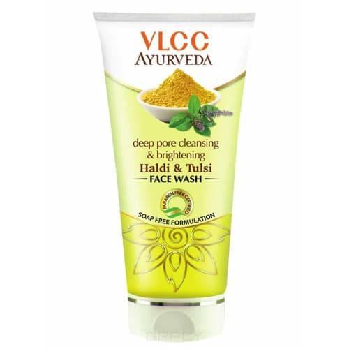 VLCC, Гель для умывания осветляющий Ayurveda Haldi & Tulsi Face Wash, 100 мл фото