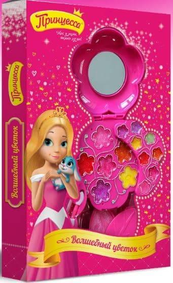 Принцесса, Набор детской декоративной косметики Волшебный цветок