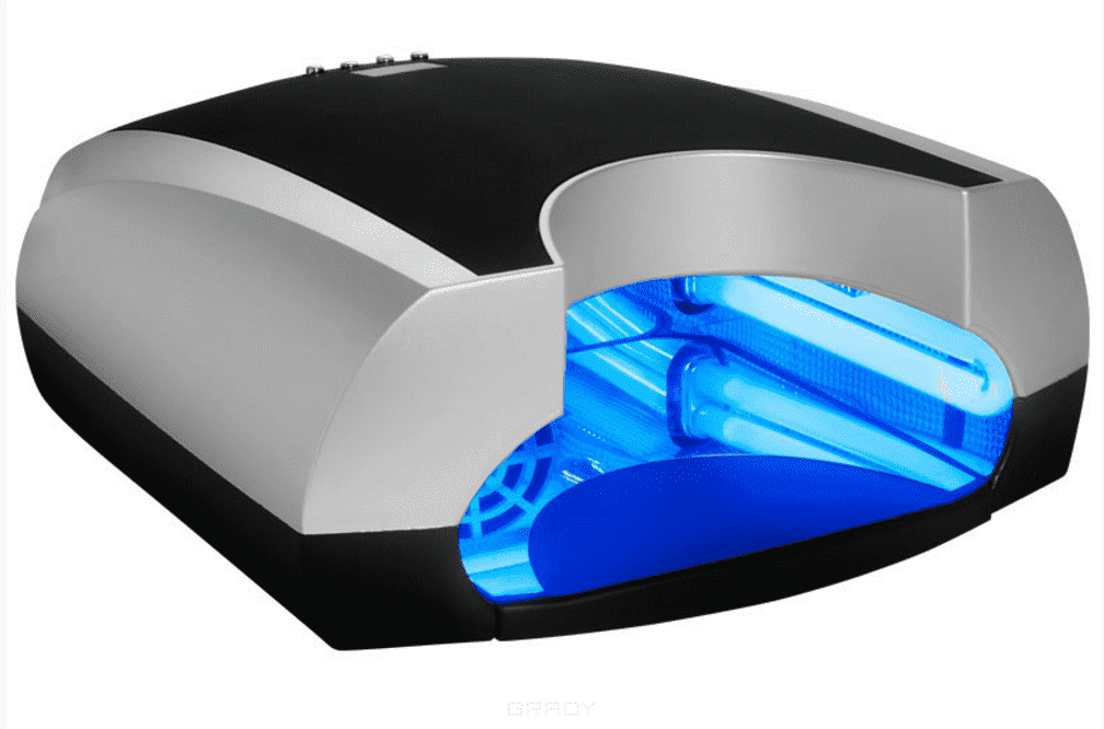 Planet Nails, Ультрафиолетовая сушка для ногтей AV-36W-5 Modern черно-серебряная Планет Нейлс