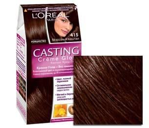 LOreal, Краска для волос Casting Creme Gloss (37 оттенков), 254 мл 415 Морозный каштанОкрашивание<br><br>