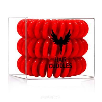 Резинка для волос Hair Bobbles красная, 3 шт