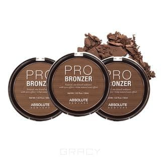 Absolute New York, Бронзер Pro Bronzer (3 оттенка), 18 гр, 18 гр, Light все цены