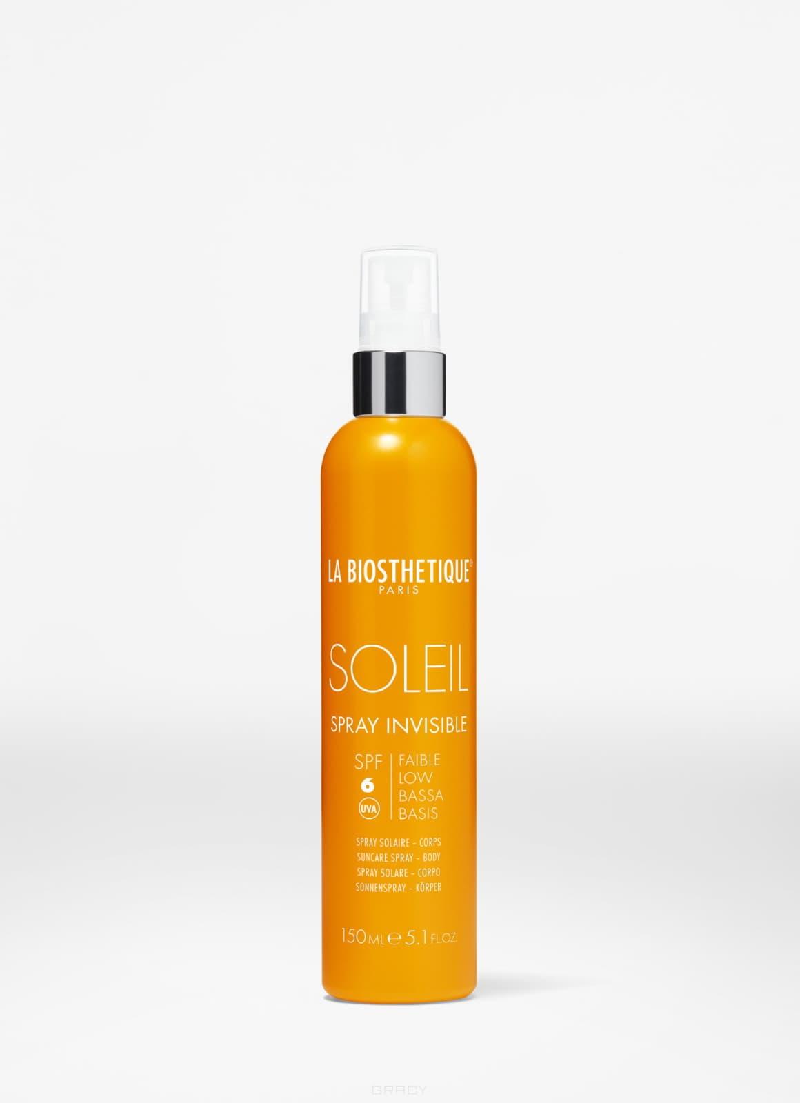 Купить La Biosthetique, Водостойкоий солнцезащитный спрей с SPF 6 для базовой защиты Methode Soleil Spray Invisible SPF 6 Corps, 150 мл