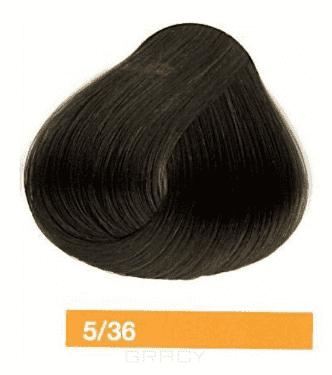 Lakme, Перманентная крем-краска Collage, 60 мл (99 оттенков) 5/36 Светлый шатен золотисто-коричневый eugene carmen ultime перманентная крем краска 3 темный шатен 60 мл
