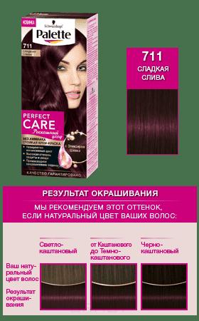 Schwarzkopf Professional, Краска для волос Palette Perfect Care, 110 мл (25 оттенков) 711 Сладкая сливаGreenism - эко-серия для ухода<br><br>