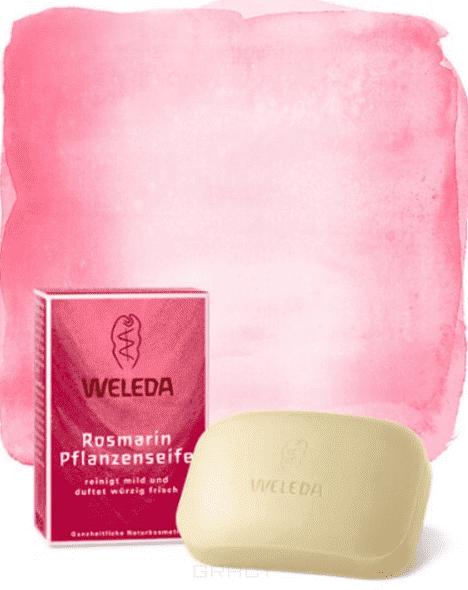 Weleda, Розмариновое мыло, 100 г косметика для мамы weleda растительное мыло розмариновое 100 г