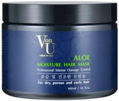 Купить Von U, Маска для волос с алое вера увлажняющая Aloe Moisture Hair Mask, 480 мл