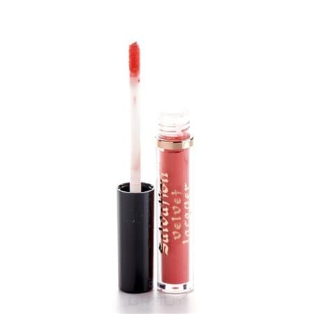 MakeUp Revolution, Лак для губ Salvation Velvet Lip Lacquer, 2 мл (10 оттенков) Keep flying for you, кораллово-оранжевый фото