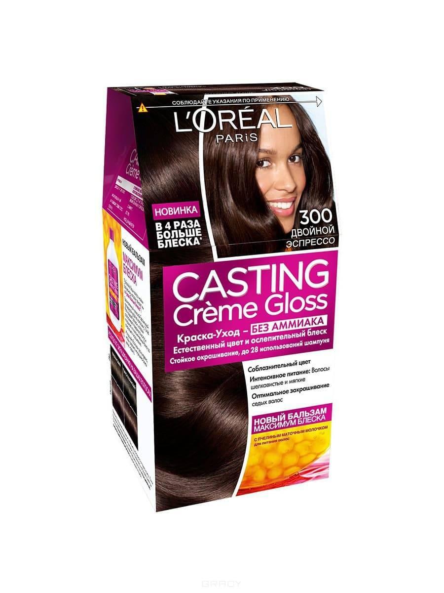 LOreal, Краска для волос Casting Creme Gloss (37 оттенков), 254 мл 300 Двойной эспрессоОкрашивание волос Casting, Preference, Prodigy, Excellence<br><br>