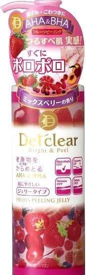 Meishoku, AHA BHA Fruits Peeling Jelly Очищающий пилинг-гель с эффектом сильного скатывания с ароматом ягод, 180 мл