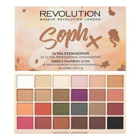Купить MakeUp Revolution, Палетка теней для век Soph X Eyeshadow Palette, 24 оттенка