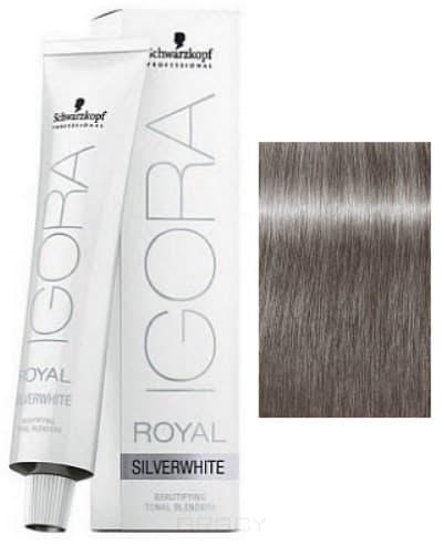 Schwarzkopf Professional, Игора Роял Краска для волос Igora Royal Шварцкопф (палитра 97 цветов), 60 мл Silverwhite Антрацит Slate Grey