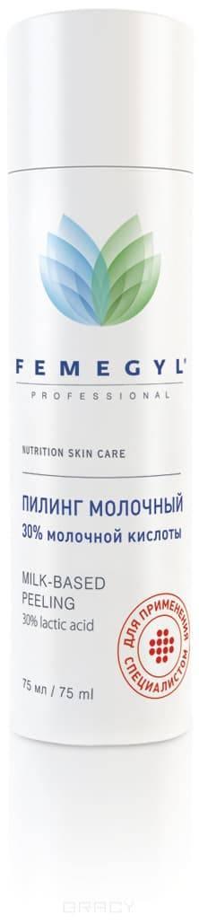Пилинг Молочный (30 % молочной кислоты), 75 млОказывает эксфолиирующее, лифтинговое и увлажняющее действие. Омолаживает кожу и придает ей сияние. Стимулирует работу клеток кожи, в том числе синтез коллагена. Улучшает микроциркуляцию и восстанавливает кожу в период постакне.&#13;<br> &#13;<br> АКТИВНЫЕ ИНГРЕДИЕНТЫ&#13;<br> высококачественная молочная кислота (АНА кислота), деионизированная артезианская вода&#13;<br> &#13;<br> СПОСОБ ПРИМЕНЕНИЯ&#13;<br> Уровень pH 2,5. Наносить пилинг на предварительно очищенную, сухую кожу, исключая зону вокруг глаз. Время экспозиции 5-10 мин. в зависимости от типа кожи и назначения врача. Смыть водой комнатной t°, нанести крем или маску по типу кожи и крем с SPF.&#13;<br> &#13;<br> ВНИМАНИЕ! &#13;<br> Не применять при обострении кожных заболеваний, в период пребывания на активном солнце. При попадании на слизистые промыть большим количеством воды. При склонности к аллергии протестировать препарат на внутренней поверхности предплечья. Соблюдать сезонность проведения процедуры!&#13;<br> &#13;<br> СОСТАВ&#13;<br>Deionized Water, Lactic acid, Propylene glycol, Hydroxyethyl cellulose<br>