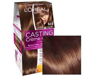 LOreal, Краска для волос Casting Creme Gloss (35 оттенков), 48 мл 635 Шоколадное пралинеОкрашивание<br><br>