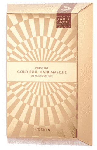 все цены на It's Skin, Prestige Gold Foil Hair Masque D'escargot Маска для волос восстанавливающая, 40 г онлайн