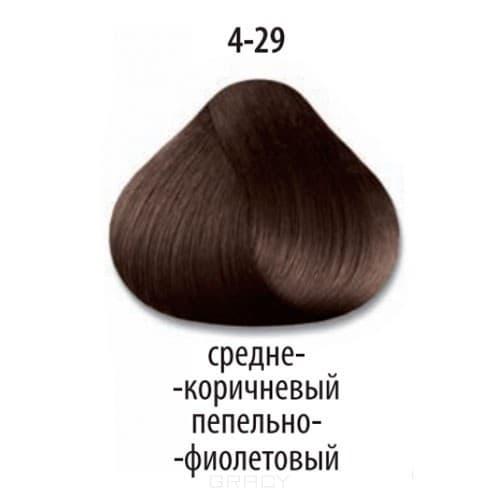 Constant Delight, Стойкая крем-краска для волос Delight Trionfo (63 оттенка), 60 мл 4-29 Средний коричневый пепельный фиолетовыйColorante - окрашивание и осветление волос<br>Краска для волос Constant Delight Trionfo - это уникальное средство, способное придать волосам здоровый вид и блеск.<br>  <br>Крем-краска Трионфо от Констант Делайт наосится на невымытые сухие волосы. Выдерживается средство на волосах до 45 минут. <br> Constan...<br>